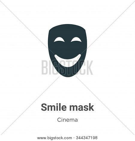 Smile mask icon isolated on white background from cinema collection. Smile mask icon trendy and mode