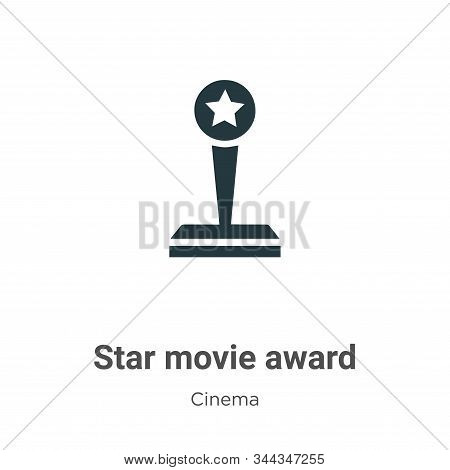 Star movie award icon isolated on white background from cinema collection. Star movie award icon tre