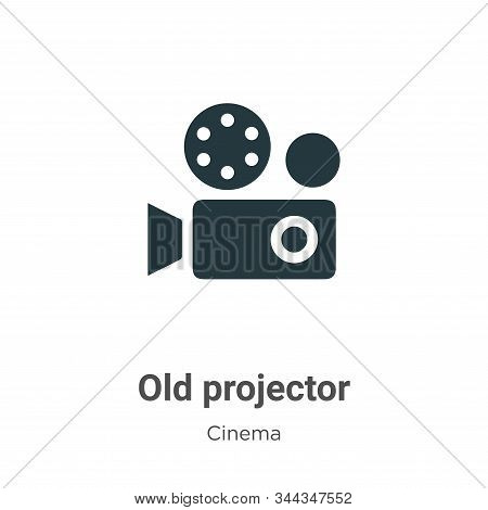 Old projector icon isolated on white background from cinema collection. Old projector icon trendy an