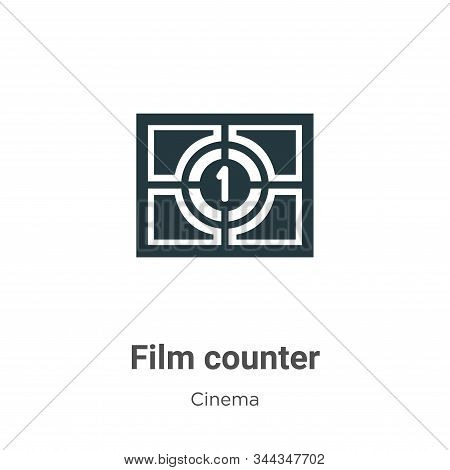 Film Counter Vector Icon On White Background. Flat Vector Film Counter Icon Symbol Sign From Modern