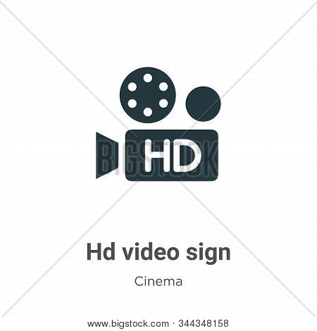 Hd Video Sign Vector Icon On White Background. Flat Vector Hd Video Sign Icon Symbol Sign From Moder
