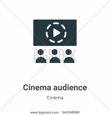 Cinema audience icon isolated on white background from cinema collection. Cinema audience icon trend