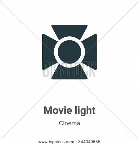 Movie light icon isolated on white background from cinema collection. Movie light icon trendy and mo
