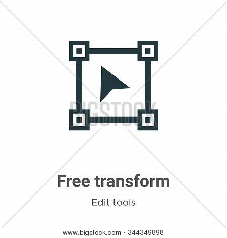 Free Transform Vector Icon On White Background. Flat Vector Free Transform Icon Symbol Sign From Mod