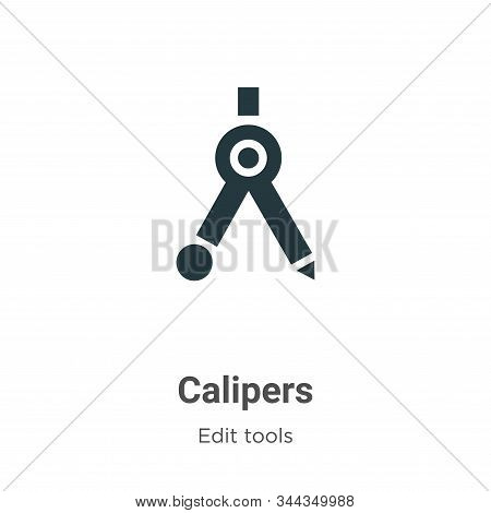 Calipers Vector Icon On White Background. Flat Vector Calipers Icon Symbol Sign From Modern Edit Too