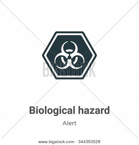 Biological hazard icon isolated on white background from alert collection. Biological hazard icon tr