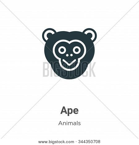Ape icon isolated on white background from animals collection. Ape icon trendy and modern Ape symbol