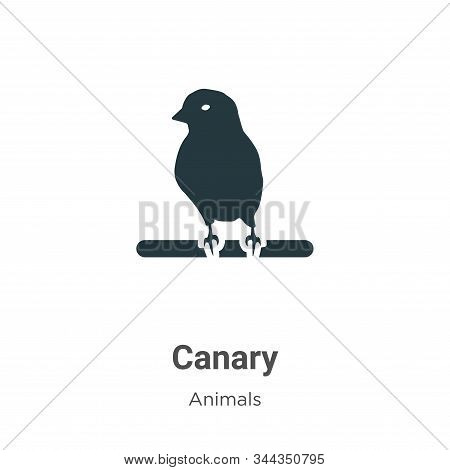 Canary icon isolated on white background from animals collection. Canary icon trendy and modern Cana