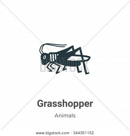 Grasshopper icon isolated on white background from animals collection. Grasshopper icon trendy and m