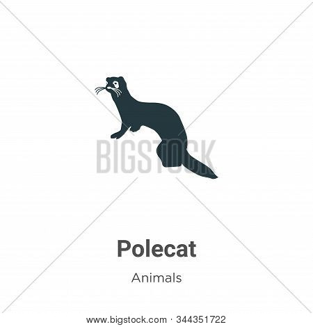 Polecat icon isolated on white background from animals collection. Polecat icon trendy and modern Po