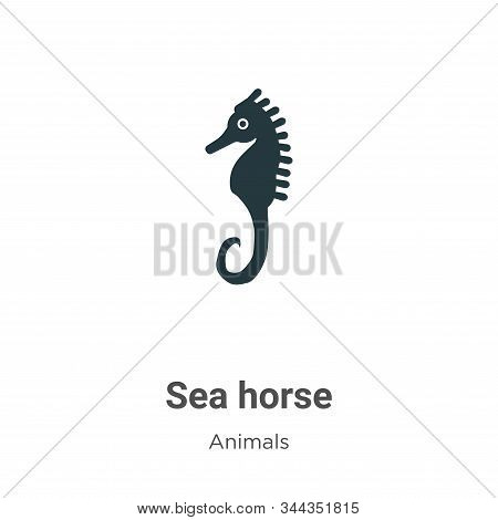 Sea horse icon isolated on white background from animals collection. Sea horse icon trendy and moder