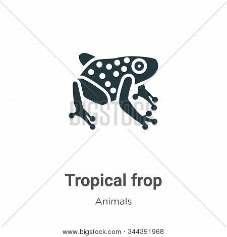 Tropical frop icon isolated on white background from animals collection. Tropical frop icon trendy a
