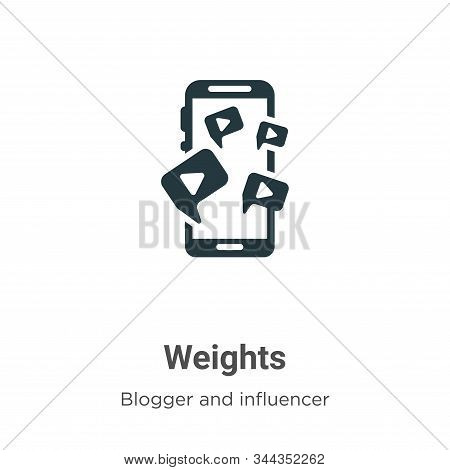 Weights icon isolated on white background from blogger and influencer collection. Weights icon trend