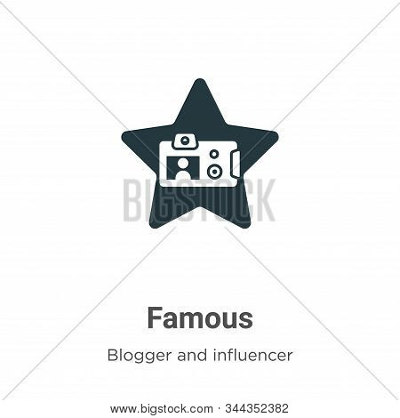 Famous Vector Icon On White Background. Flat Vector Famous Icon Symbol Sign From Modern Blogger And