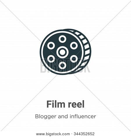 Film reel icon isolated on white background from blogger and influencer collection. Film reel icon t