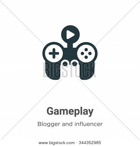 Gameplay icon isolated on white background from blogger and influencer collection. Gameplay icon tre