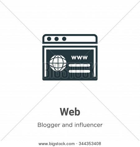 Web icon isolated on white background from blogger and influencer collection. Web icon trendy and mo