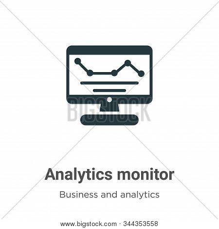 Analytics monitor icon isolated on white background from business and analytics collection. Analytic