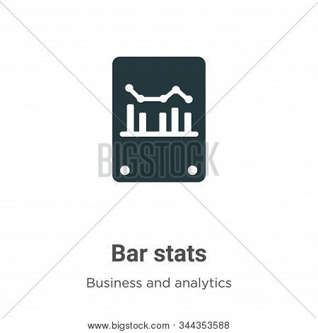 Bar stats icon isolated on white background from business and analytics collection. Bar stats icon t