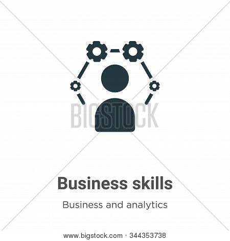 Business Skills Vector Icon On White Background. Flat Vector Business Skills Icon Symbol Sign From M