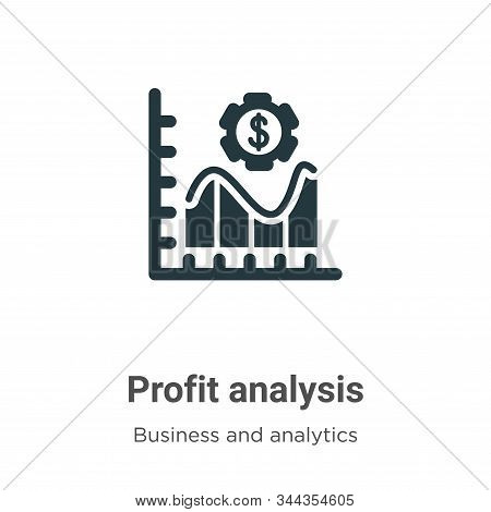 Profit analysis icon isolated on white background from business and analytics collection. Profit ana