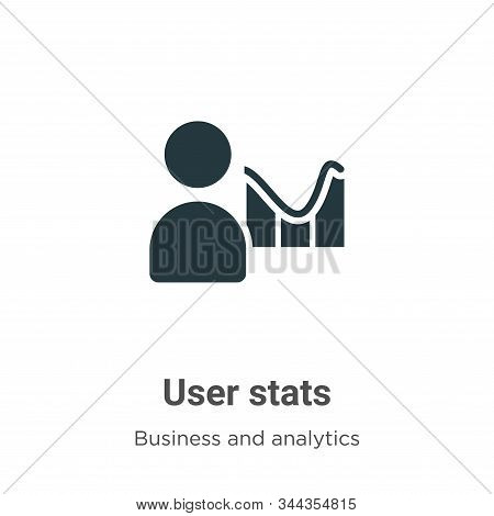 User stats icon isolated on white background from business and analytics collection. User stats icon