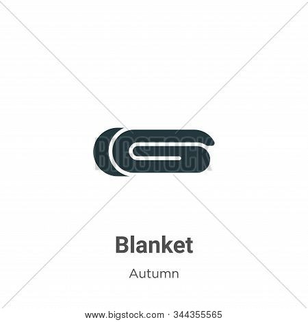 Blanket Vector Icon On White Background. Flat Vector Blanket Icon Symbol Sign From Modern Autumn Col