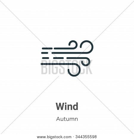 Wind icon isolated on white background from autumn collection. Wind icon trendy and modern Wind symb