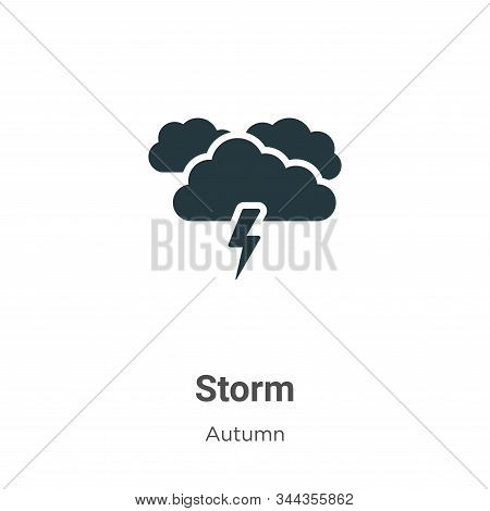 Storm icon isolated on white background from autumn collection. Storm icon trendy and modern Storm s