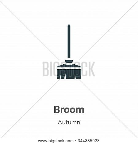 Broom icon isolated on white background from autumn collection. Broom icon trendy and modern Broom s