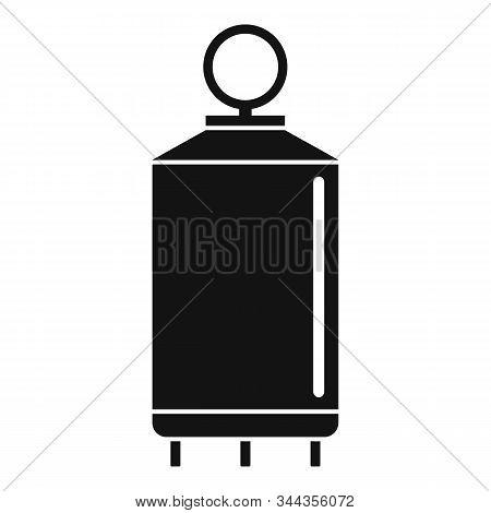 Milk Factory Cistern Icon. Simple Illustration Of Milk Factory Cistern Vector Icon For Web Design Is