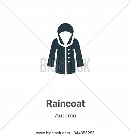 Raincoat icon isolated on white background from autumn collection. Raincoat icon trendy and modern R