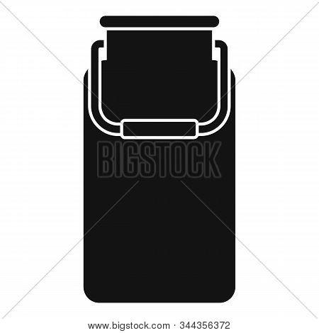 Milk Aluminium Pot Icon. Simple Illustration Of Milk Aluminium Pot Vector Icon For Web Design Isolat