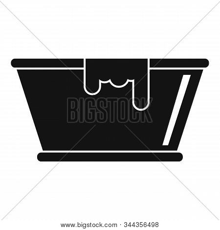 Milk Basin Icon. Simple Illustration Of Milk Basin Vector Icon For Web Design Isolated On White Back