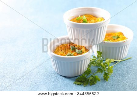 carrot flan or souffle, french gastronomy
