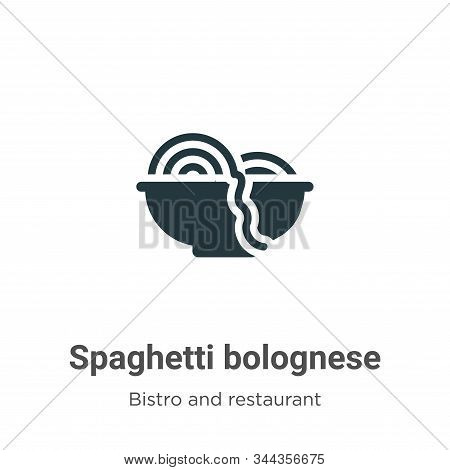 Spaghetti Bolognese Vector Icon On White Background. Flat Vector Spaghetti Bolognese Icon Symbol Sig