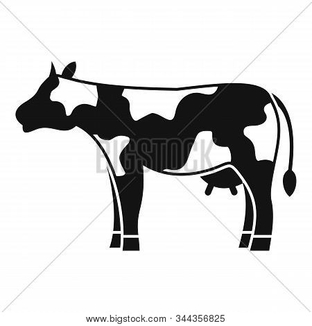 Diary Cow Icon. Simple Illustration Of Diary Cow Vector Icon For Web Design Isolated On White Backgr
