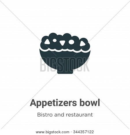 Appetizers bowl icon isolated on white background from bistro and restaurant collection. Appetizers