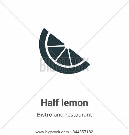 Half lemon icon isolated on white background from bistro and restaurant collection. Half lemon icon