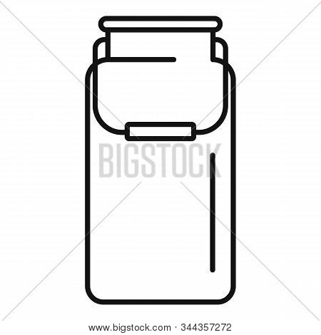 Milk Aluminium Pot Icon. Outline Milk Aluminium Pot Vector Icon For Web Design Isolated On White Bac