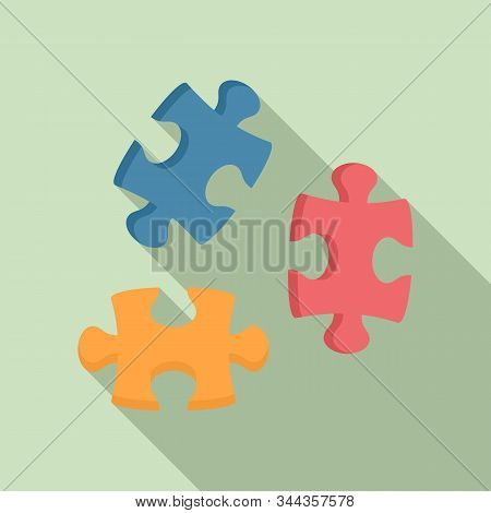 Puzzle Icon. Flat Illustration Of Puzzle Vector Icon For Web Design