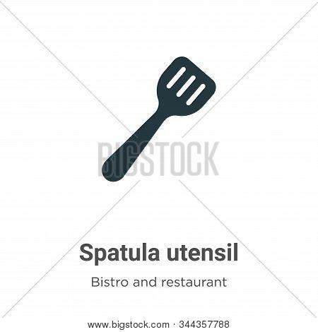 Spatula Utensil Vector Icon On White Background. Flat Vector Spatula Utensil Icon Symbol Sign From M