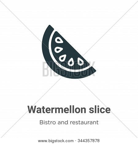 Watermellon slice icon isolated on white background from bistro and restaurant collection. Watermell