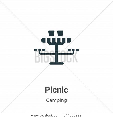 Picnic icon isolated on white background from camping collection. Picnic icon trendy and modern Picn