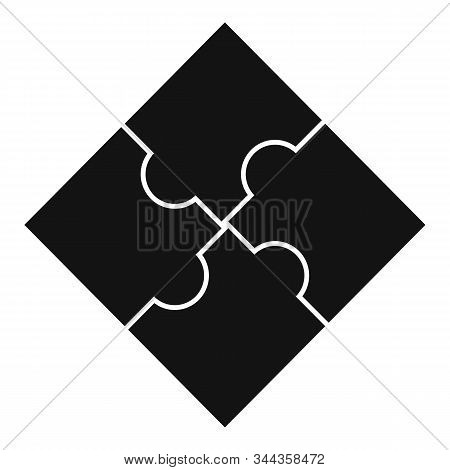 Sequence Puzzle Icon. Simple Illustration Of Sequence Puzzle Vector Icon For Web Design Isolated On