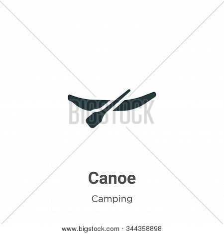 Canoe icon isolated on white background from camping collection. Canoe icon trendy and modern Canoe