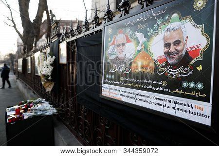 Bucharest, Romania - January 10, 2020: Picture Showing Iranian General Qassim Soleimani And Iraqi Ab