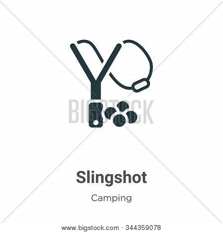 Slingshot Vector Icon On White Background. Flat Vector Slingshot Icon Symbol Sign From Modern Campin