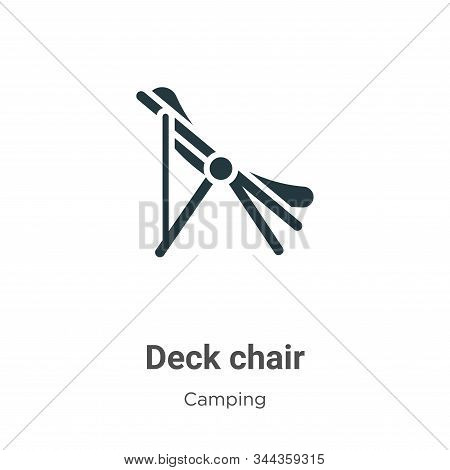 Deck chair icon isolated on white background from camping collection. Deck chair icon trendy and mod