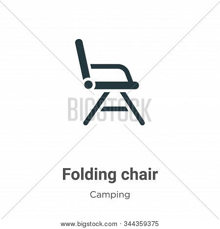 Folding chair icon isolated on white background from camping collection. Folding chair icon trendy a